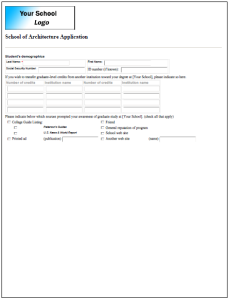 dynamic forms admissions form