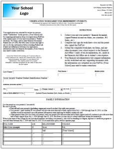 Dynamic Forms Financial Aid Form